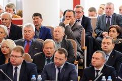 Orel, Russland, Oktober, 7, 2017: Neue Orel-Gouverneurdarstellung Lizenzfreie Stockbilder