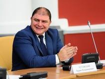 Orel, Russland, Oktober, 7, 2017: Neue Orel-Gouverneurdarstellung Lizenzfreies Stockfoto
