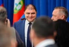 Orel, Russland, Oktober, 7, 2017: Neue Orel-Gouverneurdarstellung Stockfotos