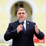 Orel Ryssland - Augusti 03, 2016: Eagle statyöppningscermoni V Royaltyfria Foton