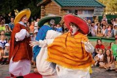 Orel Ryssland, Augusti 01, 2015: Mumu Fest, Turgenevs berättelsekonst-f Arkivbilder