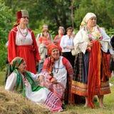 Orel Ryssland - Juni 19, 2015: Orlovskaya Mozaika musikfest: gir Arkivfoton
