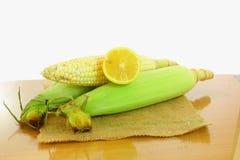 Orelha de milho com limão Imagens de Stock