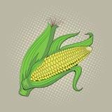 Orelha de milho, ilustração retro do pop art Fotos de Stock Royalty Free