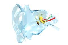 Orelha de vidro ilustração stock