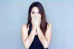 Orelha tailandesa do fim da mão da senhora a bastante Fotografia de Stock Royalty Free