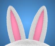Orelhas de coelho grandes do coelhinho da Páscoa Imagens de Stock Royalty Free