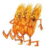 Orelhas de marcha do trigo ilustração stock
