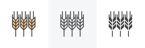 Orelhas do ?cone do trigo ilustração stock