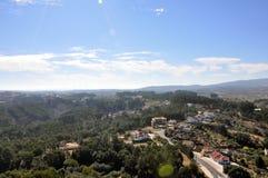 Orem城堡中世纪城市,葡萄牙 库存图片