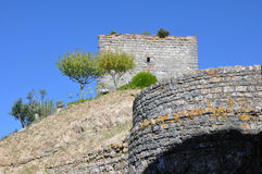 Orem城堡中世纪城市,葡萄牙 图库摄影