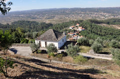 Orem medeltida stad, Portugal Arkivbilder