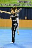 Orenbourg, Russie, année des 26-27 mai 2017 : Les juniors concurrencent dans des acrobaties de sports Photos libres de droits
