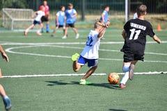 Orenbourg, Russie - 18 août 2017 année : le football de jeu de garçons Photo libre de droits