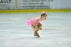 Orenbourg, Russie - 25 mars 2017 année : Les filles concurrencent dans le patinage artistique Photos libres de droits