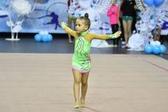 Orenbourg, Russie - 25 novembre 2017 année : les filles concurrencent en gymnastique rythmique Photos libres de droits