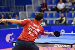 Orenbourg, Russie - 28 septembre 2017 années : le garçon concurrencent dans le ping-pong de jeu Images libres de droits