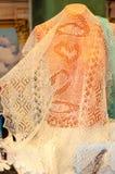 Orenburg downy shawl Royalty Free Stock Images