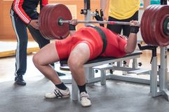 Orenburg oblast Championship Powerlifting Royalty Free Stock Photo