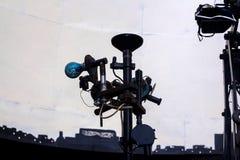 Orenburg, Rússia - 30 de outubro: projetor do planetário, projetor da estrela, equipamento do planetário imagem de stock royalty free