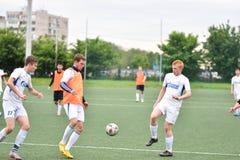 Orenburg, Rosja ï ¿ ½ 6 Czerwa 2017 rok: Chłopiec sztuki futbol Fotografia Royalty Free