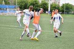 Orenburg, Rosja ï ¿ ½ 6 Czerwa 2017 rok: Chłopiec sztuki futbol Zdjęcia Royalty Free