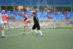 Orenburg, Rosja ï ¿ ½ 6 Czerwa 2017 rok: Chłopiec sztuki futbol Obraz Royalty Free