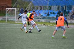 Orenburg, Rosja ï ¿ ½ 6 Czerwa 2017 rok: Chłopiec sztuki futbol Zdjęcie Stock