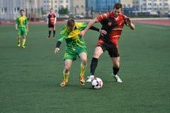 Orenburg, Rosja, 8 Czerwa 2017 rok: Mężczyzna sztuki piłka nożna Zdjęcie Royalty Free