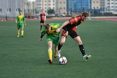 Orenburg, Rosja, 8 Czerwa 2017 rok: Mężczyzna sztuki piłka nożna Obraz Royalty Free