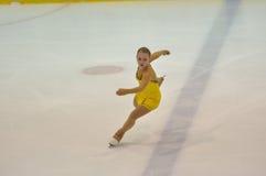 Orenburg, Rosja - 26 03 2016: Dziewczyny postaci łyżwiarka Zdjęcie Royalty Free