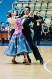 Orenburg, Rosja - 24 2015 Maj: Dziewczyny i chłopiec taniec Zdjęcia Royalty Free
