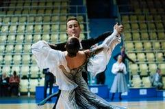 Orenburg, Rosja - 24 2015 Maj: Dziewczyny i chłopiec taniec Obrazy Royalty Free