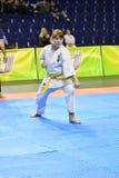 Orenburg Rosja, Marzec, - 5, 2017 rok: Dziewczyny współzawodniczą w karate Zdjęcia Royalty Free