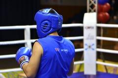 Orenburg Rosja, rok, - Stycznia 21, 2017: Chłopiec boksery współzawodniczą Zdjęcie Stock