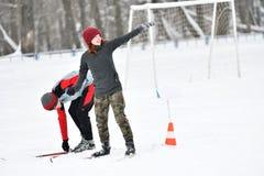 Orenburg Rosja, rok, - Stycznia 26, 2017: Uczeń sztuka w zim grach Fotografia Royalty Free