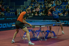Orenburg, Rosja - 03 04 2015: Stołowego tenisa rywalizacje Obraz Stock