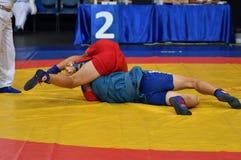 Orenburg, Rusia - 29 de octubre de 2016: Zambo de las competencias de los muchachos Foto de archivo