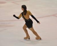 Orenburg, Rusia - 26 03 2016: Figura patinador de la muchacha Imágenes de archivo libres de regalías
