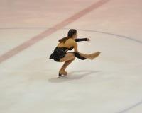 Orenburg, Rusia - 26 03 2016: Figura patinador de la muchacha Foto de archivo
