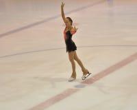 Orenburg, Rusia - 26 03 2016: Figura patinador de la muchacha Imagenes de archivo