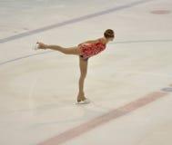 Orenburg, Rusia - 26 03 2016: Figura patinador de la muchacha Imagen de archivo libre de regalías