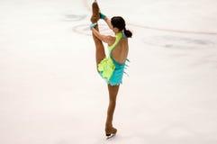 Orenburg Rusia 26 03 2016: Figura patinador de las muchachas de las competencias Foto de archivo