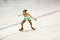 Orenburg Rusia 26 03 2016: Figura patinador de las muchachas de las competencias Fotografía de archivo libre de regalías