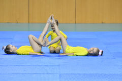 Free Orenburg, Russia, 26-27 May 2017 Years: Juniors Compete In Sports Acrobatics Royalty Free Stock Photography - 93959927