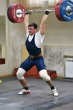 Orenburg, Russia, December 17, 2017 years: the boys compete in weightlifting. For the Cup and Championship weightlifting area royalty free stock photos