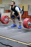 Orenburg, Russia, December 17, 2017 years: the boys compete in weightlifting. For the Cup and Championship weightlifting area royalty free stock photography