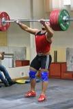 Orenburg, Russia - 15 - 17 Dezember 2017 Jahr: Men compete in weightlifting Royalty Free Stock Photos