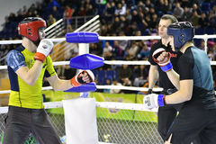 Orenburg, Russia - February 18, 2017 year: The fighters compete in mixed martial arts Royalty Free Stock Photography