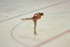 Orenburg, Russia - 26.03.2016: Girl figure skater Royalty Free Stock Photo